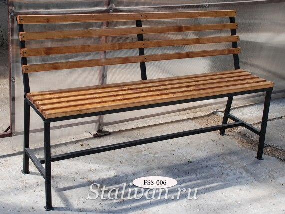 Кованая скамейка FSS-006 - фото 1