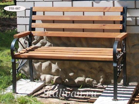 Кованая скамейка FSS-007 - фото 1