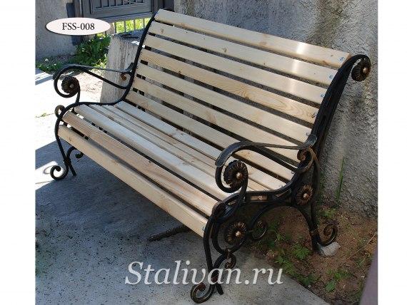 Кованая скамейка FSS-008 - фото 1