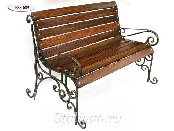 Кованая скамейка FSS-009 - фото 1