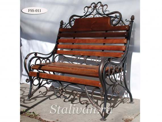 Кованая скамейка FSS-011 - фото 1