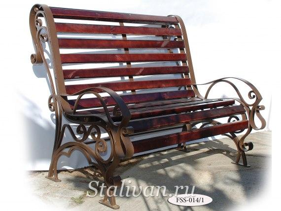 Кованая скамейка FSS-014 - фото 1