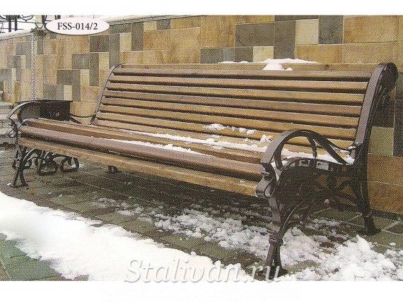 Кованая скамейка FSS-014 - фото 3
