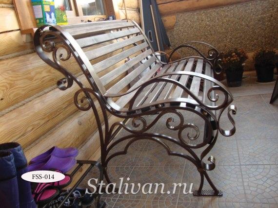 Кованая скамейка FSS-014 - фото 2