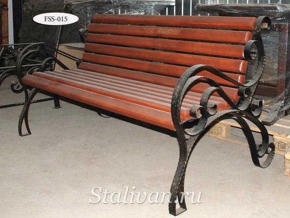 Кованая скамейка FSS-015 - фото 1