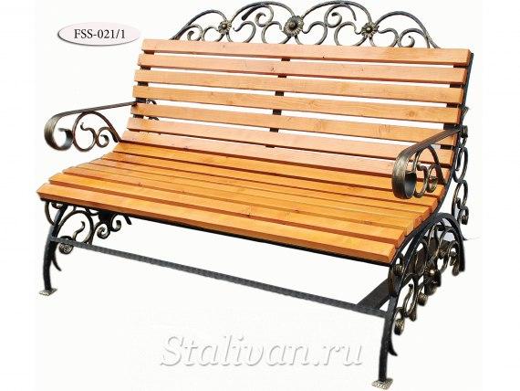 Кованая скамейка FSS-021 - фото 5