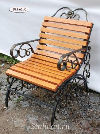 Кованая скамейка FSS-021 - фото 3