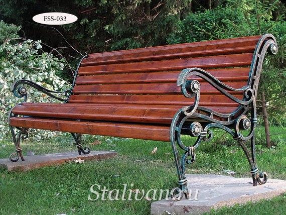 Кованая скамейка FSS-033 - фото 1
