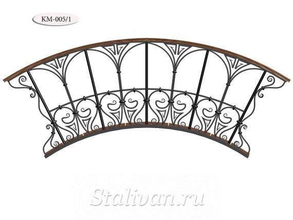 Садовый кованый мостик KM-005 - фото 2