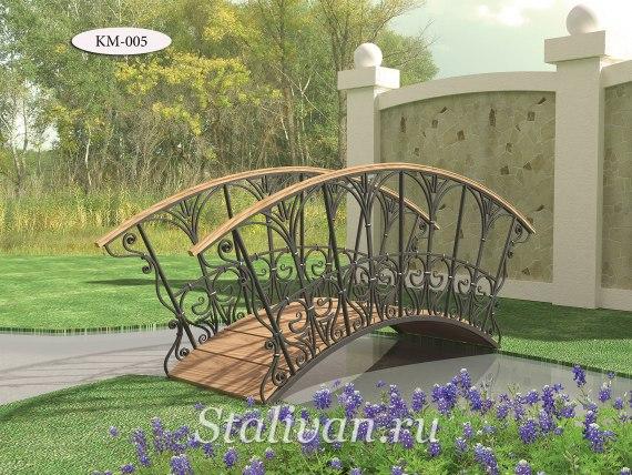 Садовый кованый мостик KM-005 - фото 1
