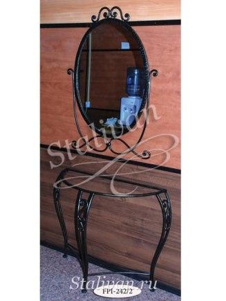 Кованая консоль с зеркалом FPI-242-2 - фото 1