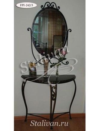 Кованое зеркало с консолью FPI-242-3 - фото 1