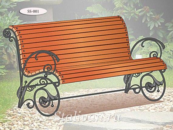 Кованая скамейка SS-001 - фото 1