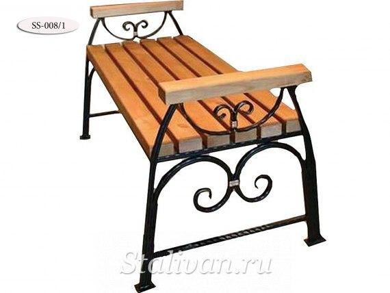 Кованая скамейка SS-008/1 - фото 1