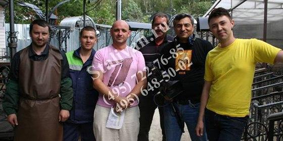 Съемочная группа «Первого канала» в гостях у «СталИван»
